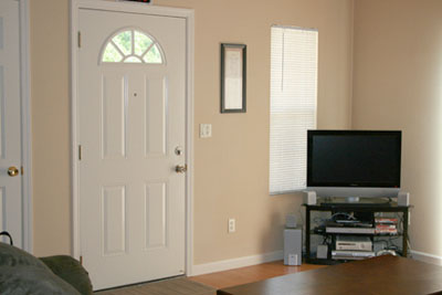 As you walk in the front door, you will notice the large open plan layout and nicely appointed living room.